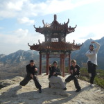 Students at the Kunyu Mountain Training China