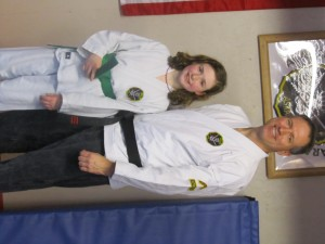 Family Karate for the Bovaird Family, son Aaron trains too.