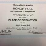 Kumon Certificate